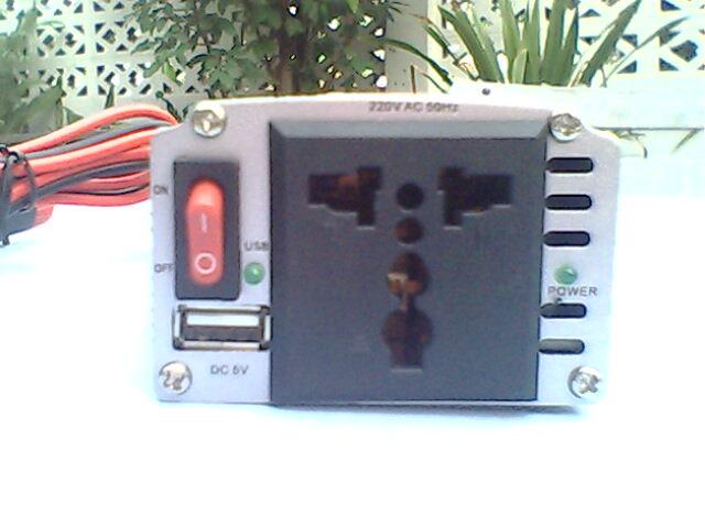 เครื่องแปลงไฟแบตเตอร์รี่รถยนต์เป็นไฟฟ้าบ้านและวิธีเลือกใช้งาน