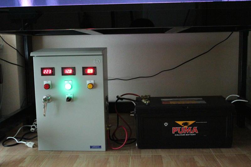 เครี่องจ่ายไฟฟ้าฉุกเฉินเวลาไฟฟ้าดับใช้แทนเครื่องปั่นไฟฟ้าชนิดน้ำมัน