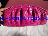 crocodile leather chic clutch bag