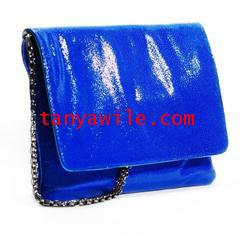 tablet case/clutch and shoulder bag/electric blue