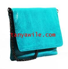 tablet case/clutch and shoulder bag/turquoise