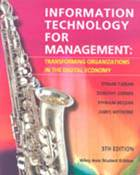 Information Technology for Management: Transforming Organizations in the Digital Economy,5th Edition