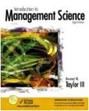 Introduction to Management Science 8E ISBN9780131229327