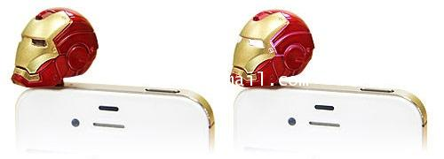 MARVEL AVENGERS : IRON MAN หัวเสียบจุ๊ป IPHONE 4/4s สินค้า LIMITED EDITION [SOLD OUT]