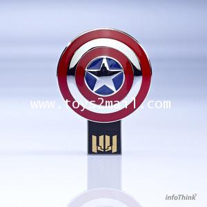MARVEL AVENGERS : AVENGERS USB 8GB CAPTAIN AMERICA โลห์สีเงินแวววาว LIMITED EDITION [SOLD OUT]