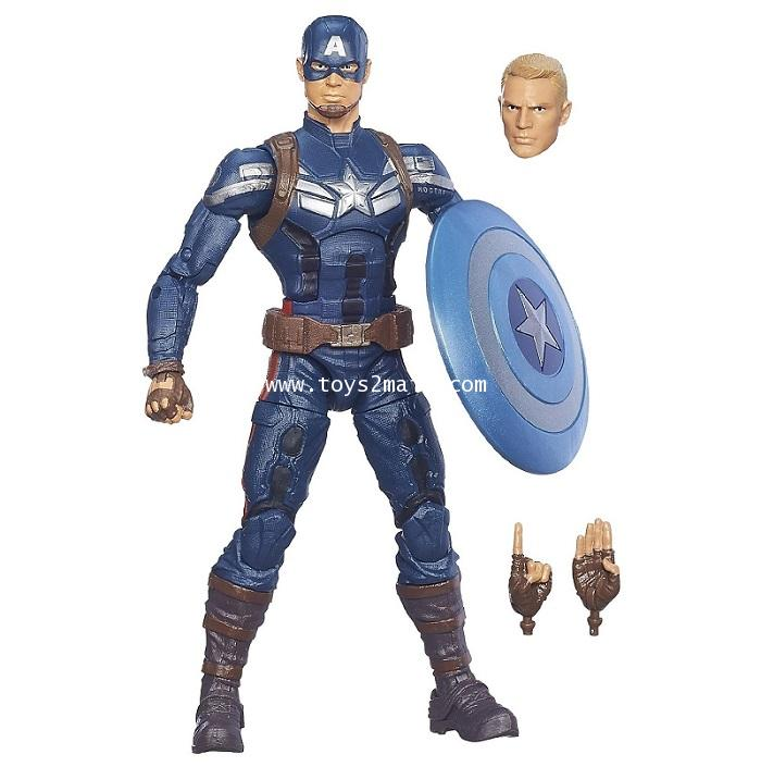 MARVEL LEGENDS : MANDRIOD BAF. CAPTAIN AMERICA WINTER SOLDIER : CAPTAIN AMERICA [RARE] [SOLD OUT]
