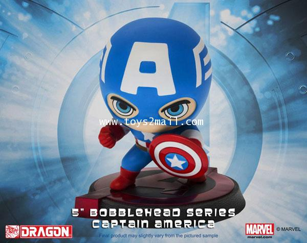 MARVEL AVENGERS Age Of Ultron : HERO REMIX BUBBLE HEAD SERIES : CAPTAIN AMERICA จากค่าย DRAGON [หมด]
