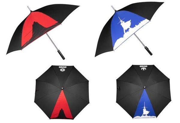 STAR WARS : BEAST KINGDOM LED LIGHTSABER UMBRELLA FX DARTH VADER + LUKE SKYWALKER [1 SET]