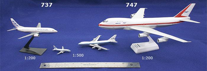การเริ่มต้นสะสมเครื่องบินโมเดลสเกล 1:500 กับ 1:400
