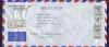 ซองจดหมายลงทะเบียนส่งไป USA ติดแสตมป์ ร.9 ชุดที่ 6 บล็อกสาม สภาพเยี่ยม