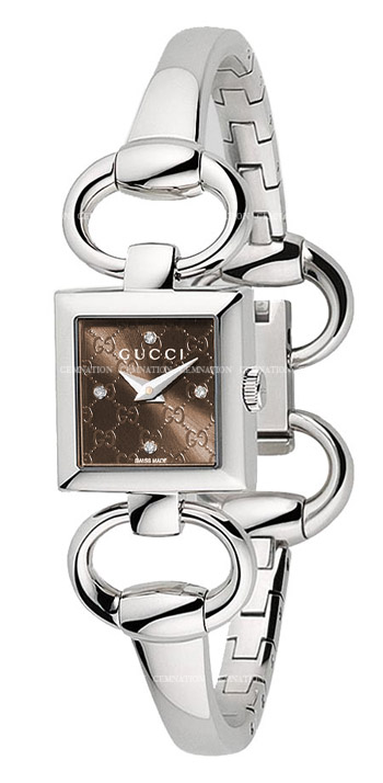 GUCCI Tornabuoni Brown Diamond Ladies Watch Item No. YA120509