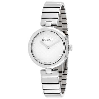 GUCCI Diamantissima White Dial Stainless Steel Medium Ladies Watch Item No. YA141402