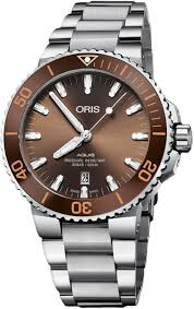 ORIS Aquis Date Automatic Brown Dial Men Watch 01 733 7730 4152-07 8 24